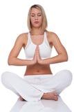 Serie di forma fisica - donna nella posizione di yoga Fotografia Stock