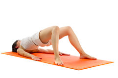 Serie di foto di asana di yoga. Fotografia Stock Libera da Diritti