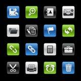 Serie di // Gelbox dell'interfaccia Fotografie Stock