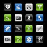 Serie di // Gelbox di cura della brughiera & della medicina Fotografia Stock