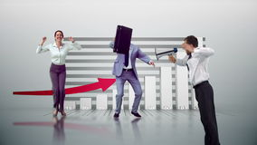 Serie di gente di affari di salto al rallentatore illustrazione vettoriale