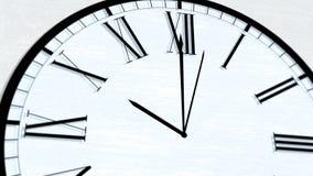 Serie di giro animata di ora di tempo di orologio - dieci in punto illustrazione di stock