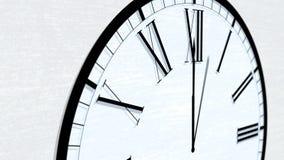 Serie di giro animata di ora di tempo di orologio - dodici in punto o mezzanotte illustrazione di stock