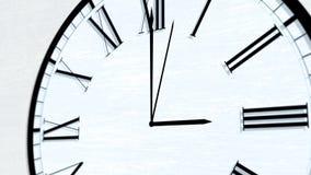 Serie di giro animata di ora di tempo di orologio - tre in punto royalty illustrazione gratis