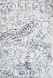 Serie di icona del timbro di gomma su carta in bianco Fotografia Stock