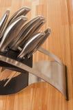 Serie di immagini degli articoli della cucina. Insieme della lama Immagine Stock Libera da Diritti