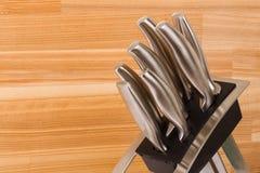Serie di immagini degli articoli della cucina. Insieme della lama Fotografia Stock
