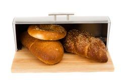 Serie di immagini degli articoli della cucina. scomparto di pane immagine stock libera da diritti