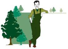 Serie di job - silvicoltore illustrazione vettoriale