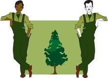 Serie di job - silvicoltore royalty illustrazione gratis