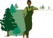 Serie di job - silvicoltore illustrazione di stock