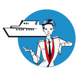 Serie di job - stewardess Fotografia Stock Libera da Diritti
