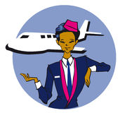 Serie di job - stewardess Immagine Stock Libera da Diritti