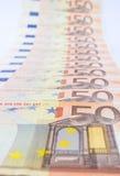 Serie di molte euro fatture Fotografie Stock