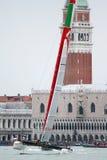 Serie di mondo della tazza dell'America Venezia - Luna Rossa Immagine Stock Libera da Diritti