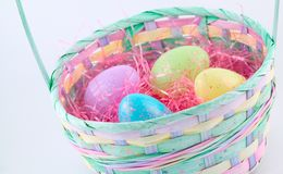 Serie di Pasqua - cestino 1 Fotografia Stock