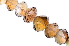 Serie di perle del quarzo fumoso Fotografie Stock Libere da Diritti