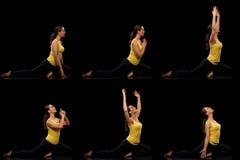 Serie di posa di yoga Fotografia Stock Libera da Diritti