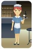 Serie di professione: Cameriera di bar Immagini Stock Libere da Diritti