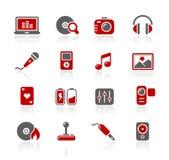 Serie di // Redico di intrattenimento & di media illustrazione vettoriale