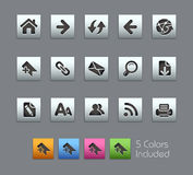Serie di // Satinbox delle icone di percorso di Web Fotografia Stock