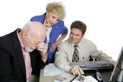 Serie di stima - preoccupazioni finanziarie Fotografia Stock
