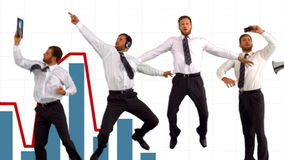 Serie di uomo d'affari di salto al rallentatore illustrazione di stock