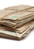 Serie di vecchie lettere Immagine Stock