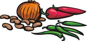 Serie di verdure dell'illustrazione Immagini Stock