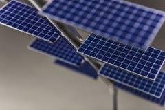 Serie doble de los paneles solares foto de archivo