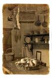 Serie dos cartão. Interior velho Imagem de Stock