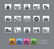 Serie Einkaufen-//-Satinbox Stockfotos