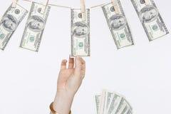 Serie el lavar planchar de dinero Fotografía de archivo libre de regalías