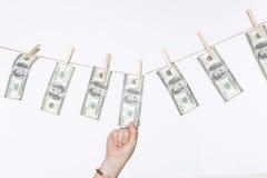 Serie el lavar planchar de dinero Imágenes de archivo libres de regalías