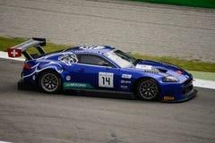 Serie Emil Frey Jaguar de Blancpain GT que compite con en Monza Imagenes de archivo