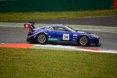Serie Emil Frey Jaguar de Blancpain GT que compite con en Monza Fotos de archivo libres de regalías