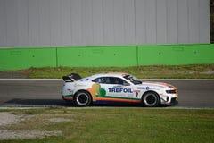 Serie europea Chevrolet Camaro de GT 4 en Monza Fotos de archivo libres de regalías
