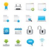 serie för 02 internet för symboler set website för indigoblå Royaltyfri Fotografi
