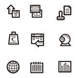 serie för affärssymbolsplain Arkivfoto