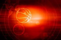 Serie för begrepp för bakgrund för tema för grafisk digital sportnyheterna röd stock illustrationer