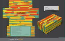 Serie för begrepp för silkespapperaskmall vektor illustrationer