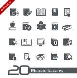 Serie för boksymbols// grunderna Arkivfoto