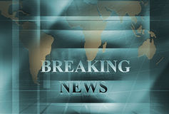 Serie 97 för breaking newsbakgrundsbegrepp Arkivfoto