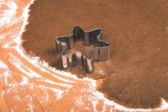 Serie för danandepepparkakakakor Bitande degark in i shap Royaltyfri Foto