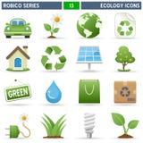 serie för ekologisymbolsrobico vektor illustrationer