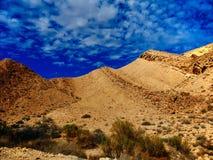 Serie för heligt land - den stora krater HaMakhtesh Gadol 5 Arkivfoto