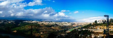 Serie för heligt land - Jerusalem på en stormig dag Fotografering för Bildbyråer