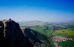 Serie för heligt land - Mt Arbel Arkivfoto