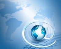 serie för internet för hand för bäst jordklot för affärsidébegrepp globalt glödande Royaltyfri Fotografi