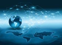 serie för internet för hand för bäst jordklot för affärsidébegrepp globalt glödande Royaltyfri Bild